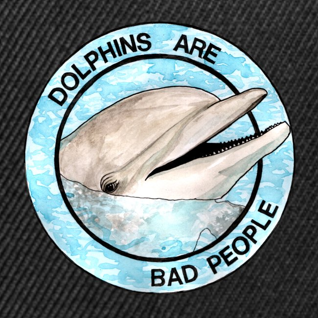 Dolphins Are Bad People Tote Bag