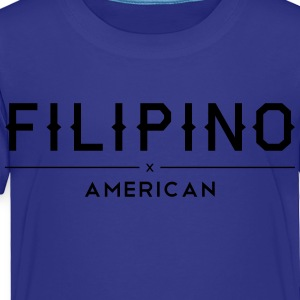 Filipino American Kids Shirt by AiReal Apparel - Toddler Premium T-Shirt