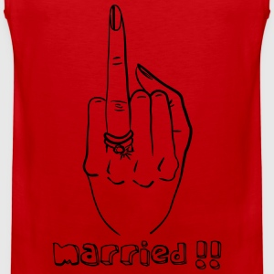 Married woman' finger - Men's Premium Tank