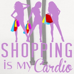 Shopping Is My Cardio - Contrast Hoodie