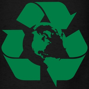 Earth Please Recycle Vector - Men's T-Shirt