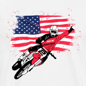 USA  -  Moto Cross  Long Sleeve Shirts - Men's Premium T-Shirt