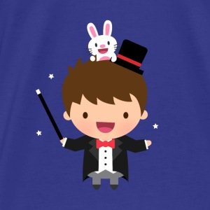 Cute Magician Boy Bunny Bags & backpacks - Men's Premium T-Shirt