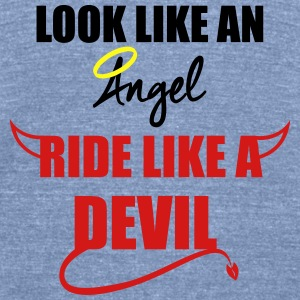 Ride like a Devil Long Sleeve Shirts - Unisex Tri-Blend T-Shirt by American Apparel