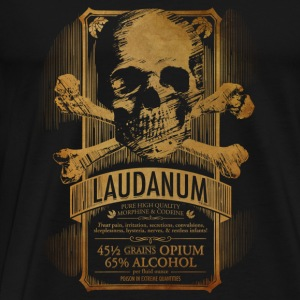 Steampunk Skull Medicine Label Doctor Goth - Men's Premium T-Shirt