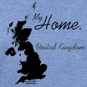 Home T Shirt, United Kingdom - GBR, White T-Shirts - Women's Wideneck Sweatshirt