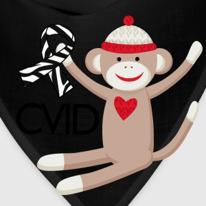 CVID Zebra Ribbon monkey Women's T-Shirts - Bandana