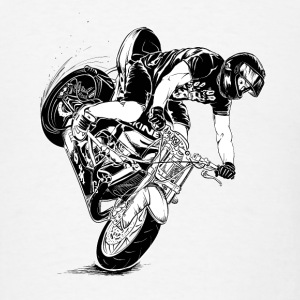 stunt motorcyclist - Men's T-Shirt