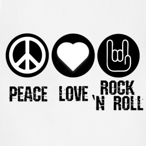 Peace, Love, Rock and Roll - Adjustable Apron