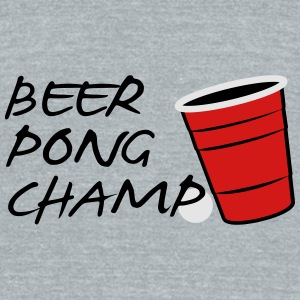 Beer Pong Champ 3 Color Vector Design. - Unisex Tri-Blend T-Shirt by American Apparel