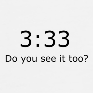 3:33 Do you see it too? - Men's Premium T-Shirt