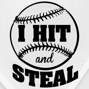 I hit and steal - baseball Kids' Shirts - Bandana
