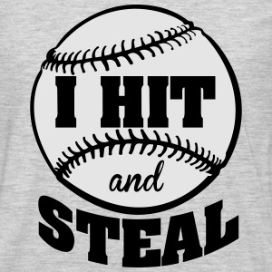I hit and steal - baseball Kids' Shirts - Men's Premium Long Sleeve T-Shirt