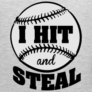 I hit and steal - baseball Kids' Shirts - Men's Premium Tank
