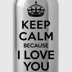 Keep calm I Love you Kids' Shirts - Water Bottle