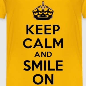Keep calm and smile on Baby & Toddler Shirts - Toddler Premium T-Shirt