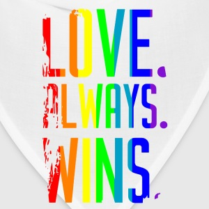 Love Wins Rainbow T-Shirts - Bandana