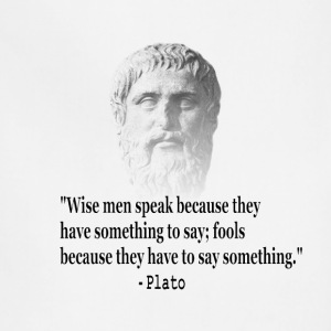 Quote By Plato - Adjustable Apron