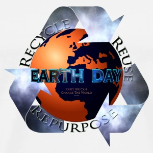 Earth Day Change The World Buttons - Men's Premium T-Shirt