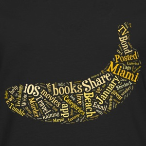 Banana Word Cloud - Men's Premium Long Sleeve T-Shirt