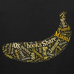 Banana Word Cloud - Men's Premium Tank