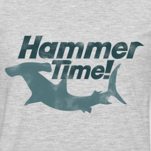 Hammer time shark week - Men's Premium Long Sleeve T-Shirt