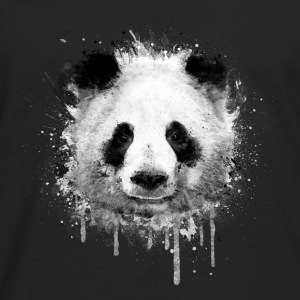 Cool Artistic Panda Portrait (watercolor design) Tanks - Men's Premium Long Sleeve T-Shirt
