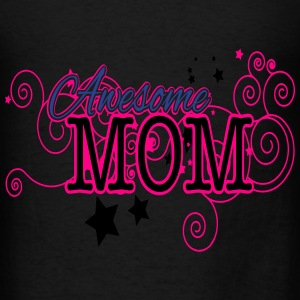 Mother's Day, Awesome Mom, 3 Color Vector Bags & backpacks - Men's T-Shirt