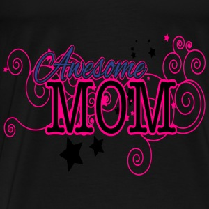 Mother's Day, Awesome Mom, 3 Color Vector Bags & backpacks - Men's Premium T-Shirt