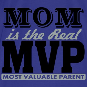 MOM is The Real MVP, 2 Color Vector Bags & backpacks - Men's Premium T-Shirt