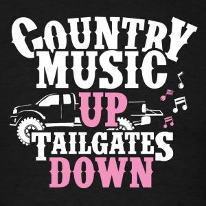 Country Music UP Tailgates Down - Men's T-Shirt