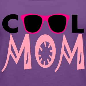 Cool Mom, 3 Color Vector Women's T-Shirts - Women's Premium Tank Top