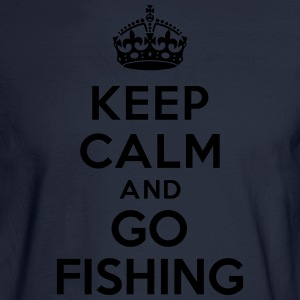 Keep calm and go fishing Hoodies - Men's Long Sleeve T-Shirt