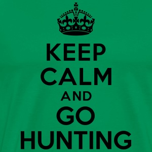 Keep calm and go hunting Hoodies - Men's Premium T-Shirt