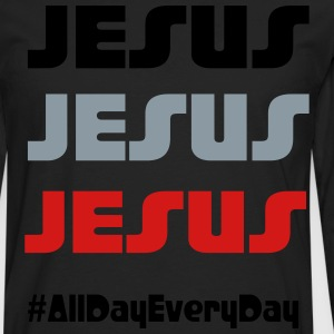 Jesus all day everyday - Men's Premium Long Sleeve T-Shirt