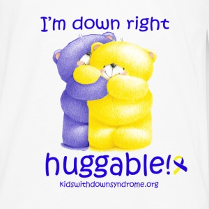 Down Right Huggable Baby & Toddler Shirts - Men's Premium Long Sleeve T-Shirt