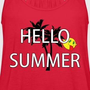hello summer Women's T-Shirts - Women's Flowy Tank Top by Bella
