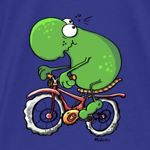 Funny Cycling Tour Frog Bags & backpacks - Men's Premium T-Shirt