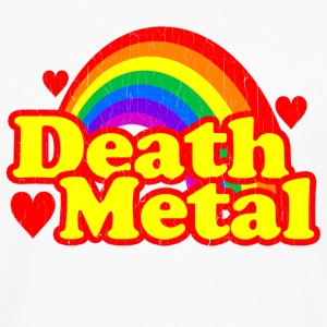 Funny Death Metal Rainbow (vintage look) - Men's Premium Long Sleeve T-Shirt