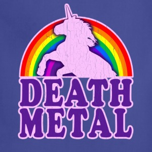 Funny Death Metal Rainbow Unicorn (vintage look) - Adjustable Apron