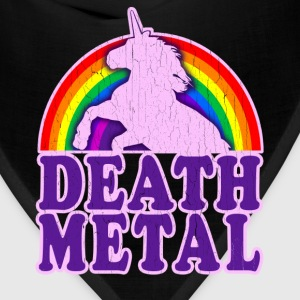 Funny Death Metal Rainbow Unicorn (vintage look) - Bandana