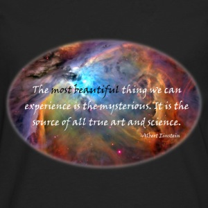 The mysterious: Carl Sagan Quote Women's T-Shirts - Men's Premium Long Sleeve T-Shirt