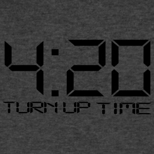 420 TURN UP TIME | 4-20 - Men's V-Neck T-Shirt by Canvas