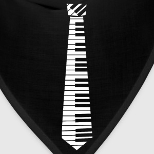 Piano Key Neck Tie (2) - Bandana