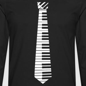 Piano Key Neck Tie (2) - Men's Premium Long Sleeve T-Shirt