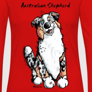 Happy Australian Shepherd T-Shirts - Women's Premium Long Sleeve T-Shirt