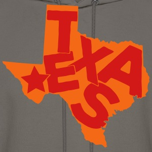 Texas typo maps T-Shirts - Men's Hoodie