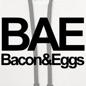 Bae Bacon & Eggs Women's T-Shirts - Contrast Hoodie