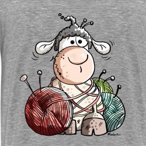 Funny Sheep With Wool Ball Hoodies - Men's Premium T-Shirt