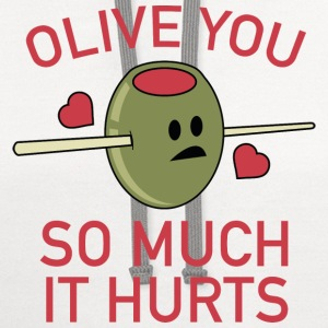 Olive You So Much It Hurts - Contrast Hoodie